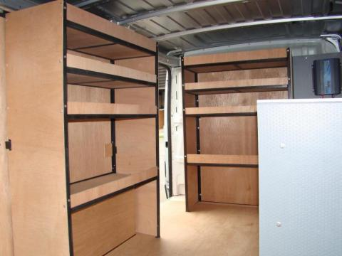 Metal Framed Racking for Vans 1