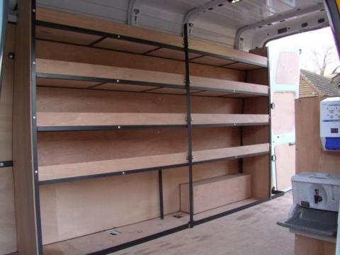 Metal Framed Racking for Vans 2