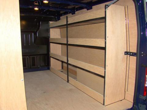 Metal Framed Racking for Vans 3