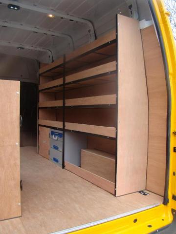 Metal Framed Racking for Vans 5