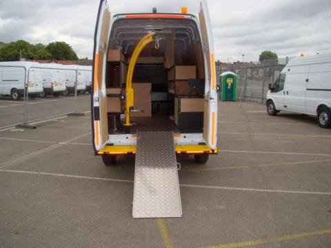 Murphy Van Racking System Utility Spec Rear door folding ramp