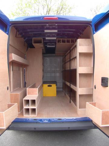 Citroen Relay Bespoke Racking System 1