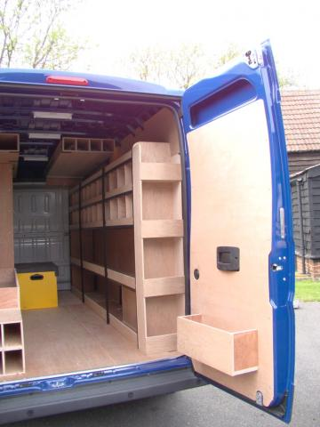 Citroen Relay Bespoke Racking System 2