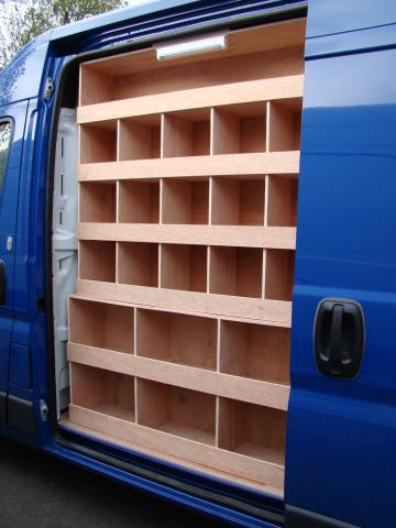 Citroen Relay Bespoke Racking System 4