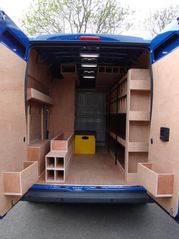 Citroen Relay Bespoke Racking System 5
