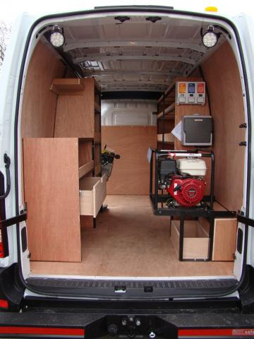 Vauxhall Movano Racking System