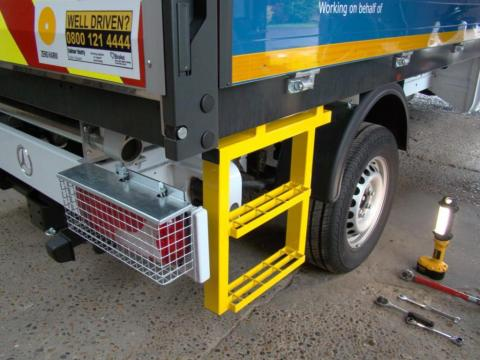 Mercedes Sprinter Dropside Tipper Side Step